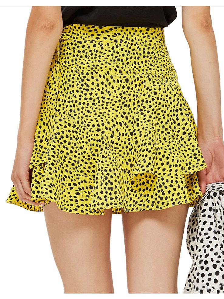 TOPSHOP - Animal-Print Ruffle Mini Skirt - thebay.com 205a93d7b