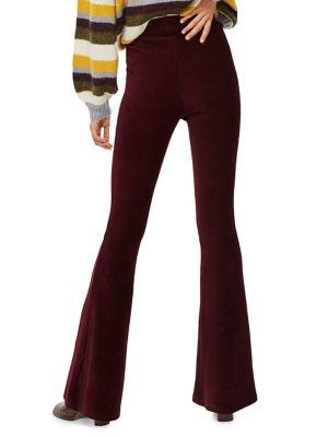 Petite Corduroy Flare Pants by Topshop