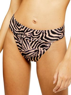 51819336a184d Product image. QUICK VIEW. TOPSHOP. Tiger Print High Leg Bikini Bottoms