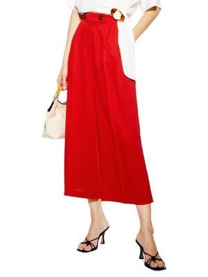 768c96c602b96 QUICK VIEW. TOPSHOP. Rita Cropped Wide Leg Pants. $60.00 Now $45.00 · High- Waist Belted Plaid Pants BLACK. QUICK VIEW