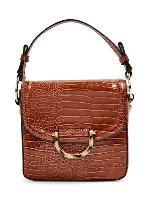 3b8c433041ca2 QUICK VIEW. TOPSHOP. Carrie Croc Print Shoulder Bag
