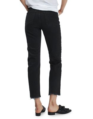 Moto Raw Hem Straight Leg Jeans by Topshop