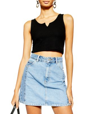 4f8f5c65daaaf QUICK VIEW. TOPSHOP. PETITE Waffle Jersey Crop Tank Top