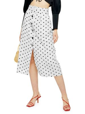50e57d6b42 Polka Dot Midi Skirt MONOCHROME. QUICK VIEW. Product image. QUICK VIEW.  TOPSHOP