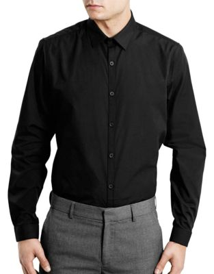 05156244016 Slim Fit Dress Shirt BLACK. QUICK VIEW. Product image