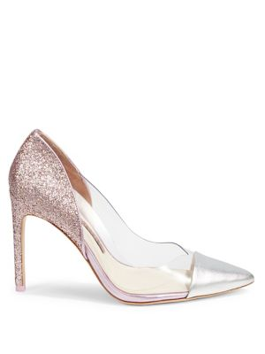 Metallic Pointed Toe Pumps by Sophia Webster