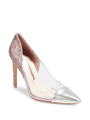 a7a1b589777b QUICK VIEW. Sophia Webster. Metallic Pointed Toe Pumps