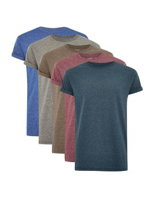 3467bf5f705 QUICK VIEW. TOPMAN. Pack of 5 Assorted Muscle Fit T-Shirt