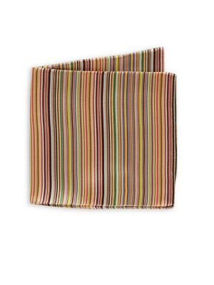 8dff6f557 QUICK VIEW. Paul Smith. Striped Silk Pocket Square