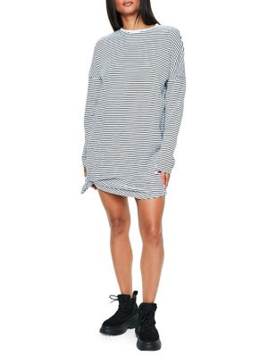 a0674b154a0 QUICK VIEW. Missguided. Oversized Striped Sweater Dress