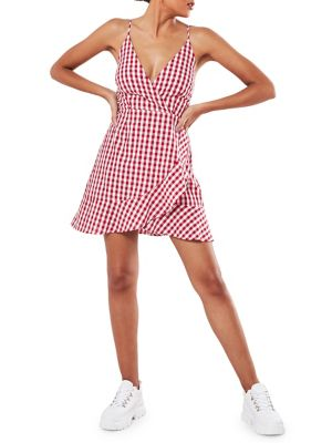36e71dd555a QUICK VIEW. Missguided. Checkered Skater Wrap Dress