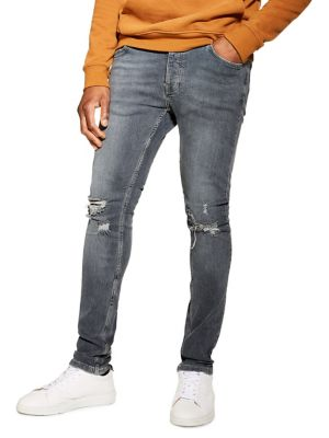 2cde9c5a0aebe Ripped Stretch Skinny Jeans GREY. QUICK VIEW. Product image