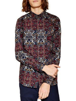 22a90600 TOPMAN   Men - Men's Clothing - Casual Button-Downs - thebay.com