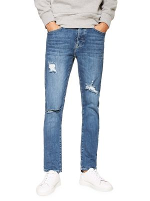 5d018d94385aa Yosemite Distressed Slim Fit Jeans DARK BLUE. QUICK VIEW. Product image