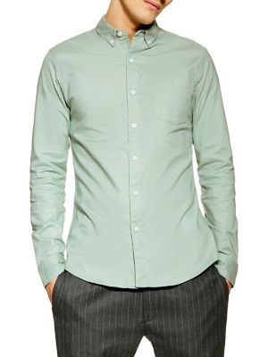 dccc86d7 Stretch Long Sleeve Oxford Shirt GREEN. QUICK VIEW. Product image