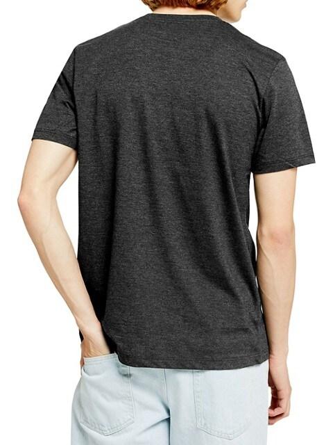 TOPMAN T-shirt chiné gris de style classique CHARBON