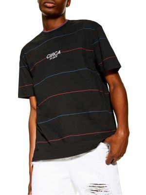 5f886258fd Product image. QUICK VIEW. TOPMAN. Oversized Circa Striped Tee