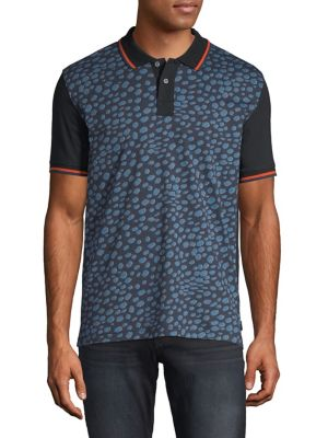720c5d9b Printed Short Sleeve Polo Shirt DARK NAVY. QUICK VIEW. Product image