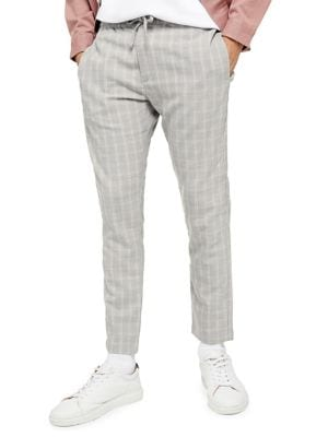 3637a226dd Product image. QUICK VIEW. TOPMAN. Check-Print Whyatt Skinny Fit Trousers