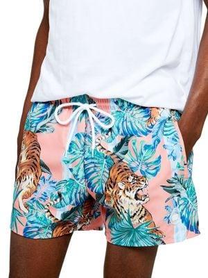 e4c475b7f7 Product image. QUICK VIEW. TOPMAN. Tiger Print Swim Shorts