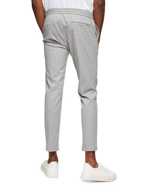 TOPMAN Pantalon rayé avec cordon de serrage GRIS