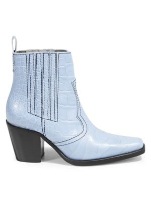 53bd2e7b0bb QUICK VIEW. GANNI. Callie Embossed Leather Booties