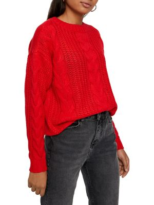 Alpine Cable Knit Sweater by Vero Moda