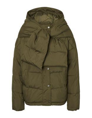 Scarf Short Puffer Jacket by Vero Moda
