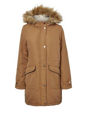 6de4e872663 Product image. QUICK VIEW. VERO MODA. Faux Fur-Trimmed Hooded Jacket