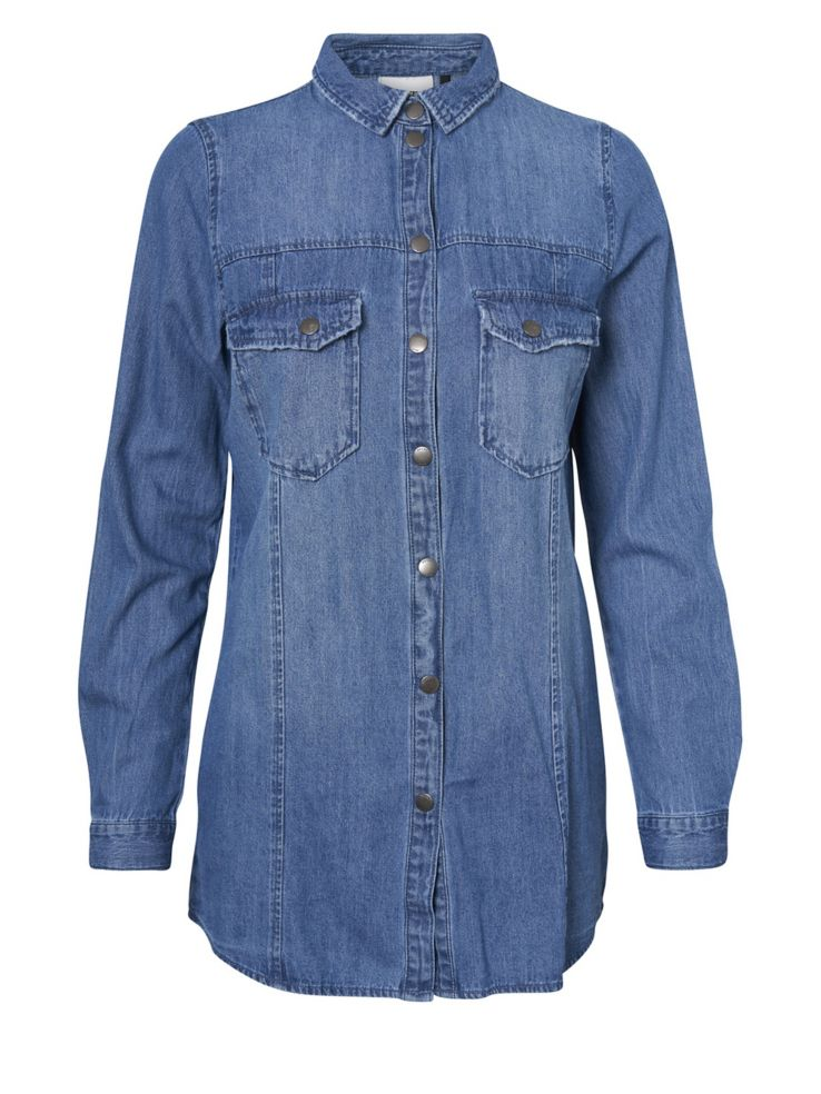 90cb2c914 Noisy May - Kara Oversized Denim Button-Down Shirt - thebay.com
