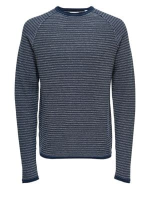 7b42537ea98 QUICK VIEW. Only and Sons. Jacquard Stripe Cotton Sweater