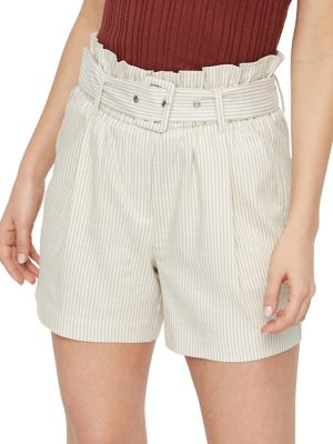 3dda62b08 Gally High-Waist Belted Shorts OATMEAL. QUICK VIEW. Product image