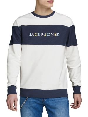 huge selection of 95129 79ced Colourblock Logo Cotton Crew Sweatshirt