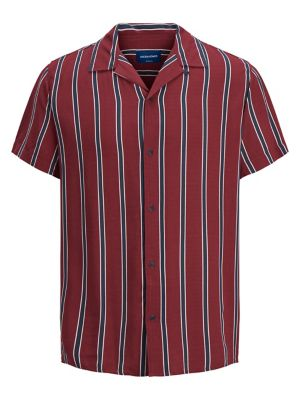 3de7ce751ad9b7 QUICK VIEW. Jack & Jones. Originals Striped Cotton Short Sleeve Sport Shirt