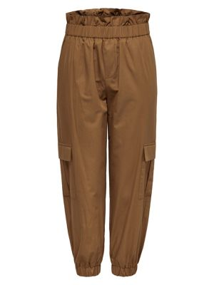 b72a1fd119ec26 Product image. QUICK VIEW. ONLY. Paperbag Waist Cotton Cargo Jogger Pants