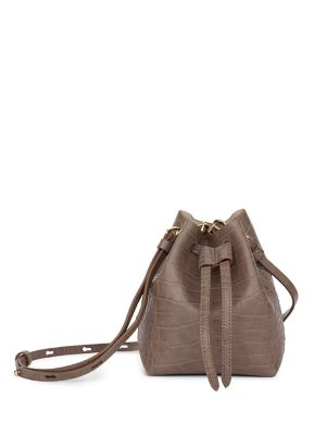 b37f77fed364 Minee Embossed Leather Mini Bucket Bag TAUPE. QUICK VIEW. Product image