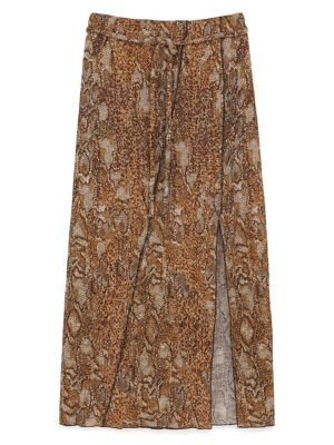 15703a62f QUICK VIEW. Nanushka. Rope Belted Snake Print Skirt
