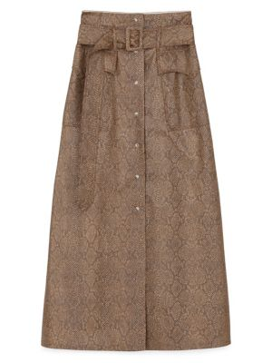 6bd21dad83 A-Line Pocket Skirt BROWN. QUICK VIEW. Product image