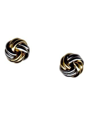 82cd9603a Product image. QUICK VIEW. Fine Jewellery. 14 Karat Two Toned Gold Love  Knot Earrings