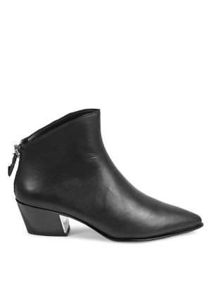 Bason Leather Zip Up Ankle Booties by Dkny