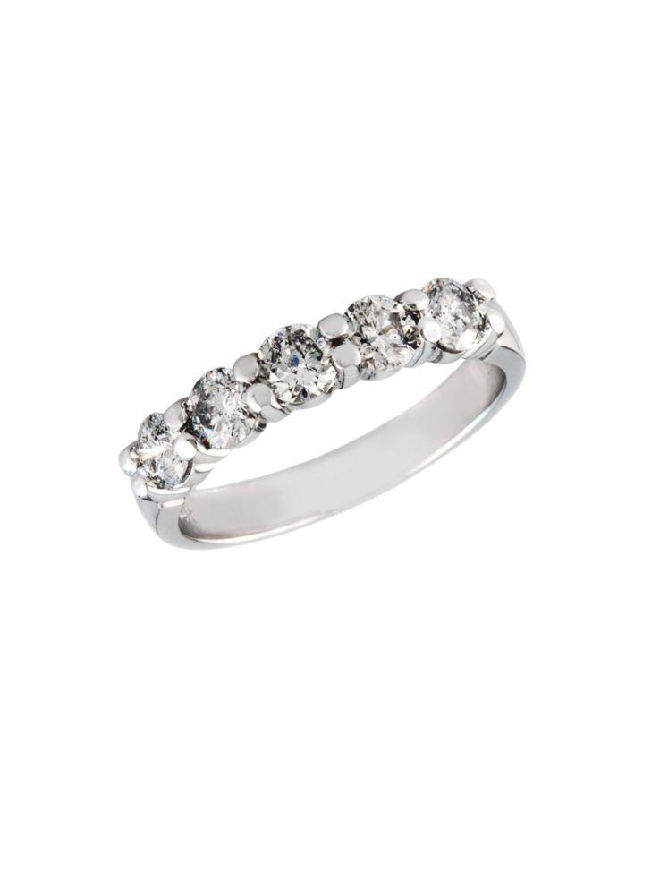 14k White Gold 1 Tcw Diamond Wedding Band