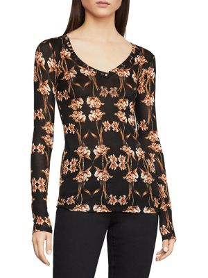 89088a5e94814 Floral Long Sleeve Knit Top Black. QUICK VIEW. Product image. QUICK VIEW.  BCBGMAXAZRIA