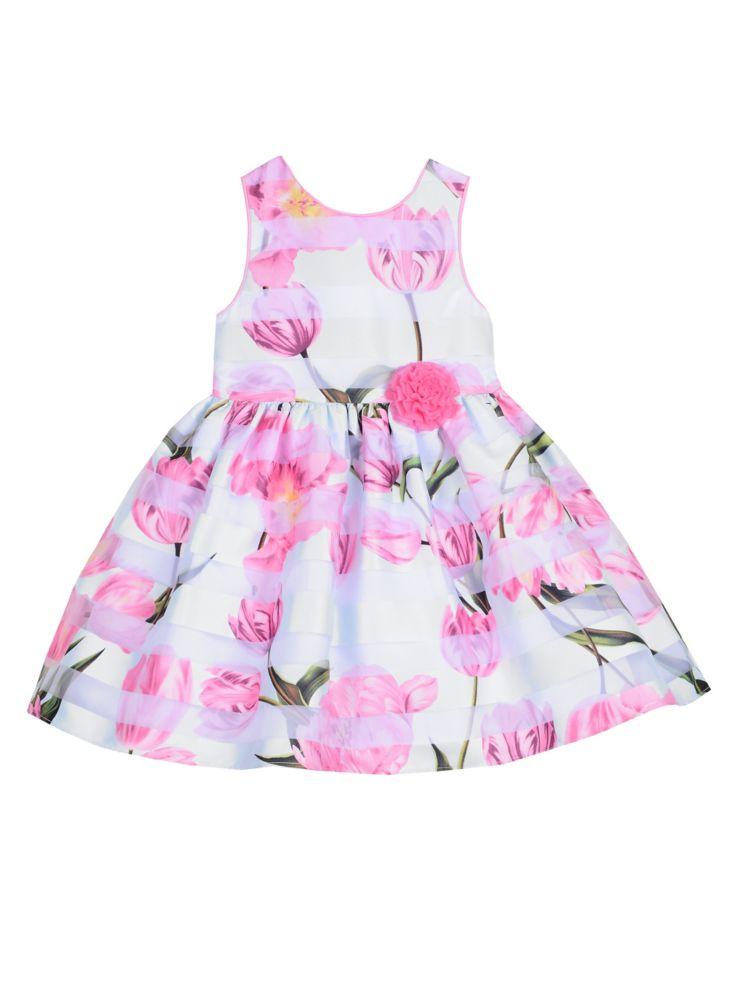 36f39d362743 Pastourelle - Little Girl's Floral-Print Fit-&-Flare Dress - thebay.com