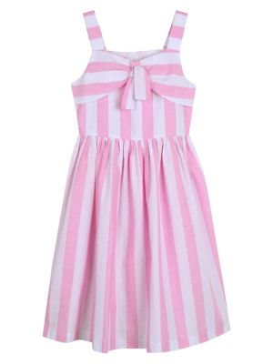 845b184e6f0 Girl s Striped Cotton Dress PINKWHITE. QUICK VIEW. Product image