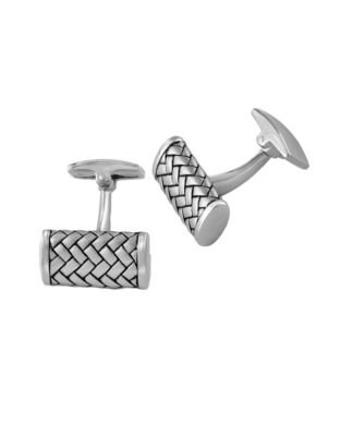 0d2b711f8a Mens Woven Texture Sterling Silver Cuff Links SILVER. QUICK VIEW. Product  image
