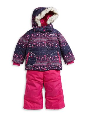 Little Girl's 5-Piece Faux Fur-Trimmed Hood Snowsuits (Kids) photo