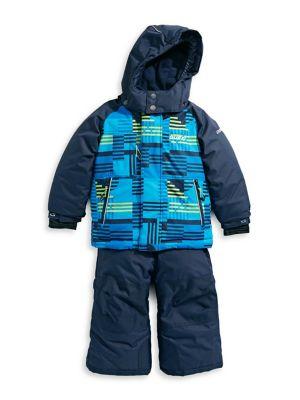 Boy's 5-Piece Faux Fur-Trimmed Printed Snowsuits (Kids) photo