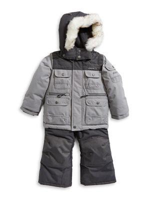 Little Boy's 5-Piece Faux Fur-Trimmed Hood Snowsuits (Kids) photo