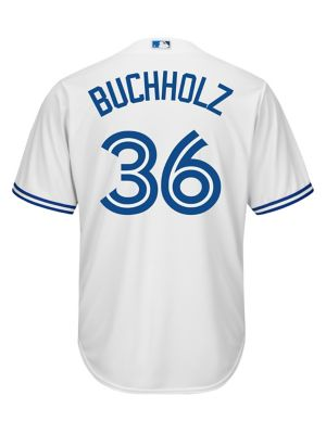 8bf6e5d6bd8 QUICK VIEW. Majestic. Clay Buchholz Toronto Blue Jays MLB Jersey Tee.   189.99. online only. everyday value