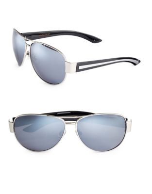 9b64edce29 QUICK VIEW. Dockers. 63mm Striped Aviator Sunglasses